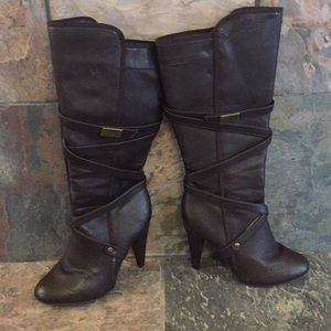 Brown Charlotte Russe boots with heel